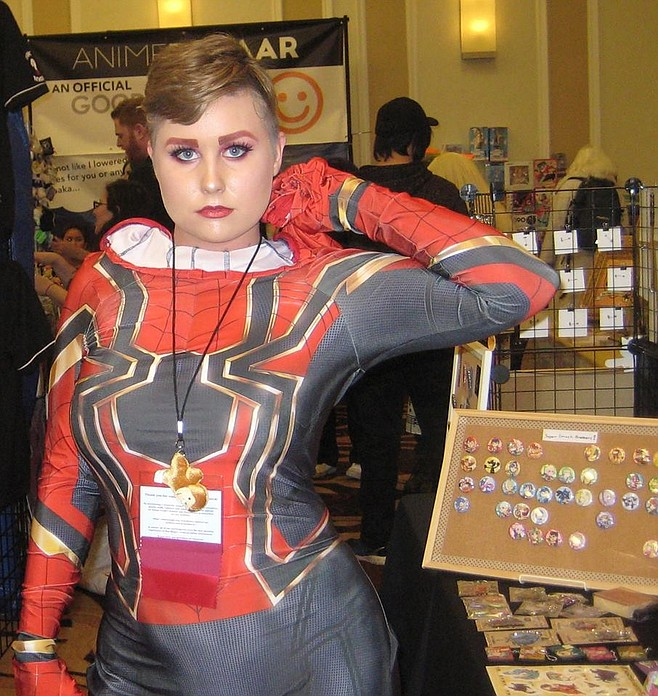Marvel Comics cosplay at Anime Conji with Iron Spider