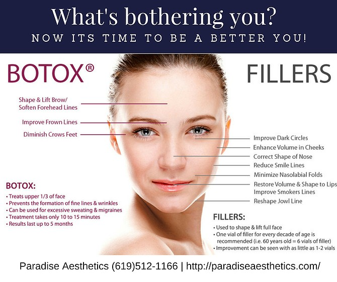 Call paradise Aesthetics for your appointment (619)512-1166