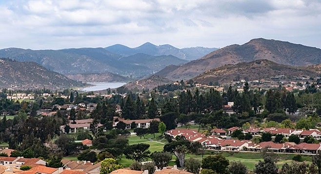 View of West Ridge from Lake Hodges