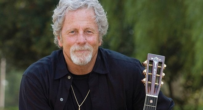 Chris Hillman performs with Herb Pedersen at Bernardo Winery on August 12