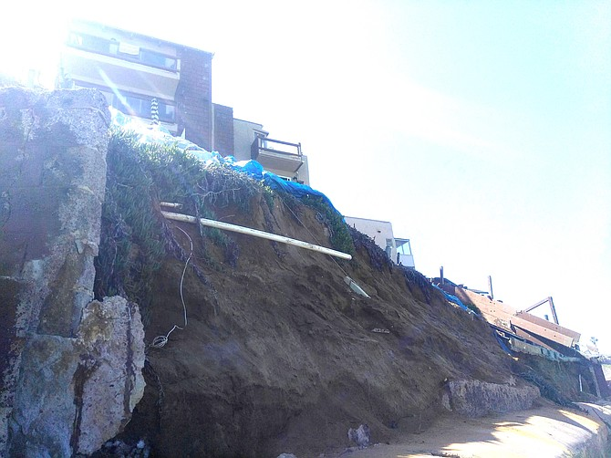 Bluff collapse remains untouched