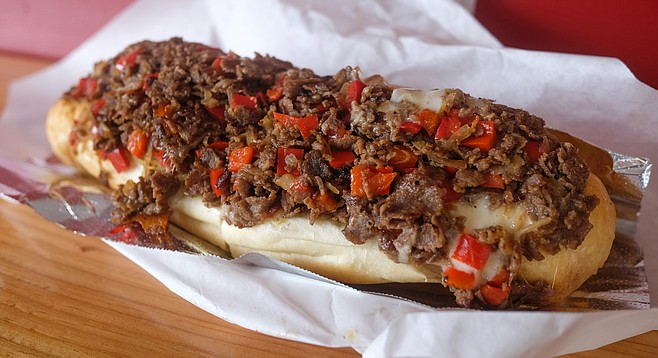 The pepper steak at Calozzi's Cheesesteaks