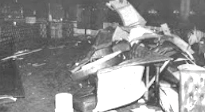 At midnight on Friday, April 25, 1986, DePhilippis and about thirty employees, family members, and patrons of the Butcher Shop annihilated the restaurant.