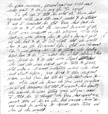 Sally Roush's handwritten notes, July 30