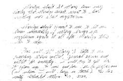 Sally Roush's handwritten notes, June 12