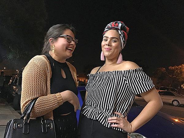 Tania and Daniela dress for the scene