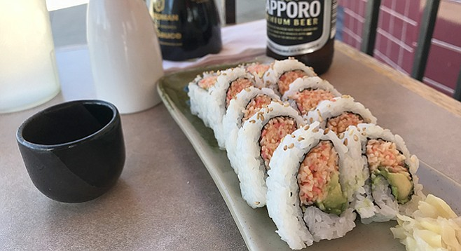 My Spicy California. Gateway sushi, but at $3.50 what's not to like?