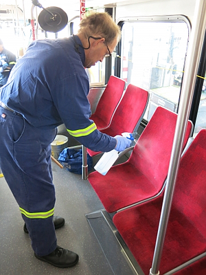 MTS has been hiring disabled people to clean their fleet.