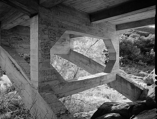 1960s graffiti under Black Canyon Road bridge in Ramona.