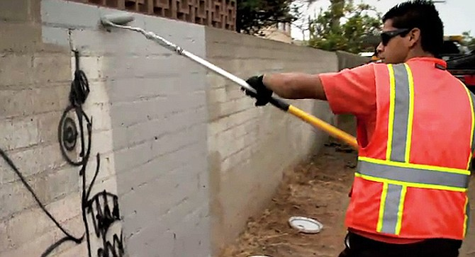 """I've reported graffiti dozens of times and it gets cleaned up or painted over in about a week."""