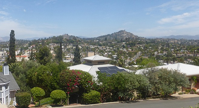 La Mesa Stairs- View toward the east and Mt. Helix