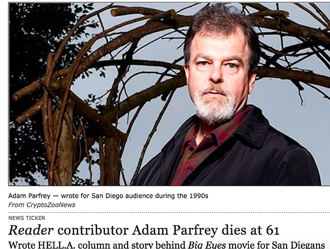From May story on Parfrey's death