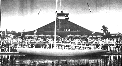 Christening of Stars and Stripes '85 at the San Diego Yacht Club