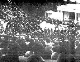 Graduation at the Point Loma campus in the mid-60s