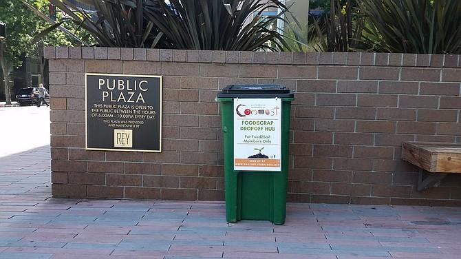 Foodscrap dropoff point in downtown San Diego