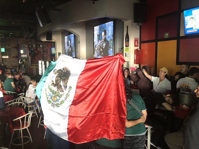 The city celebrated as if Mexico had won.