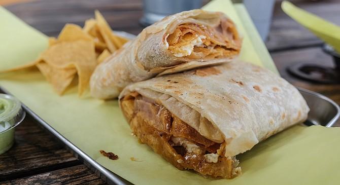 Sonora or no, chilaquiles in a burrito