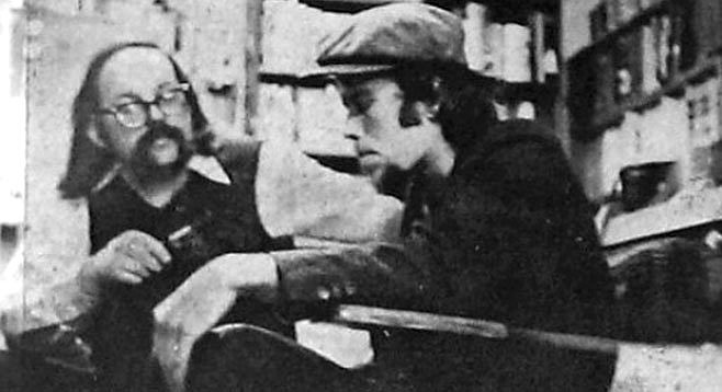 Lou Curtiss with Tom Waits in 1973