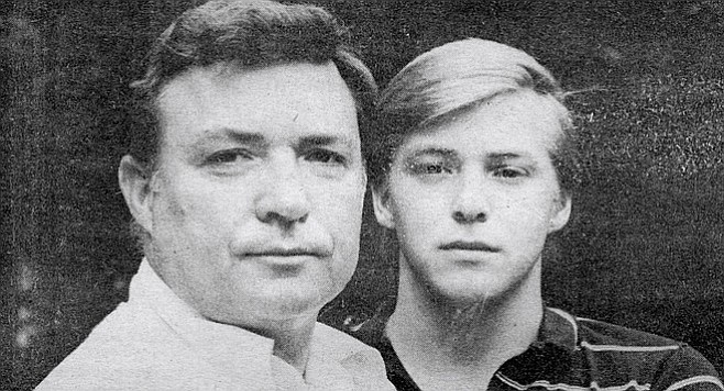 Tom Metzger and son John.  From 1988 Reader interview with John.