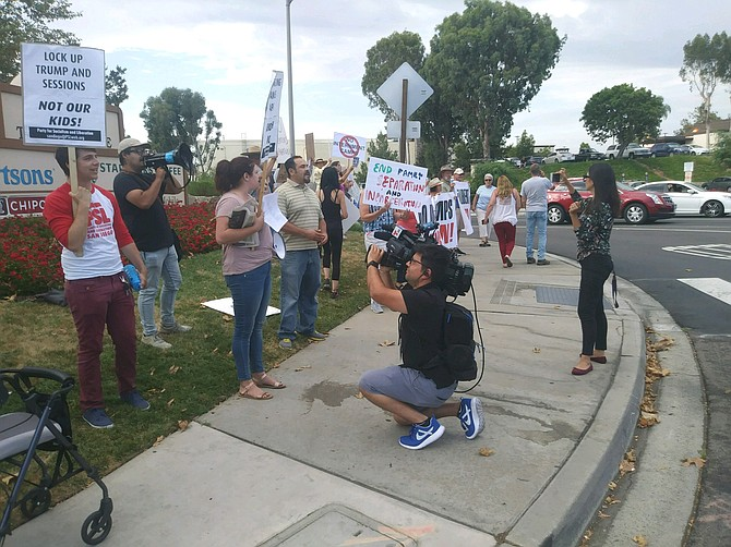 Favela says he got support for this rally from the Fallbrook Democratic Club and a group called Indivisible Fallbrook.