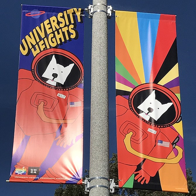 Pride / Comic-Con Street Banners #2 University Heights, San Diego