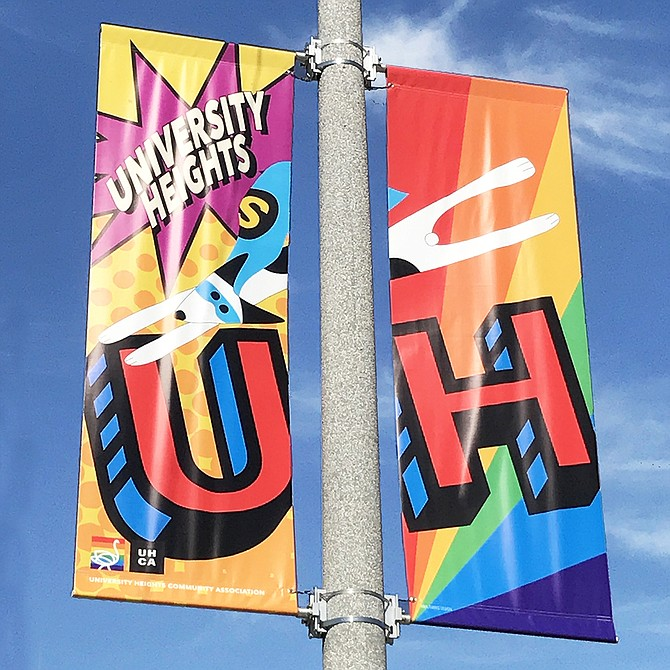 Pride / Comic-Con Street Banners #1 University Heights, San Diego