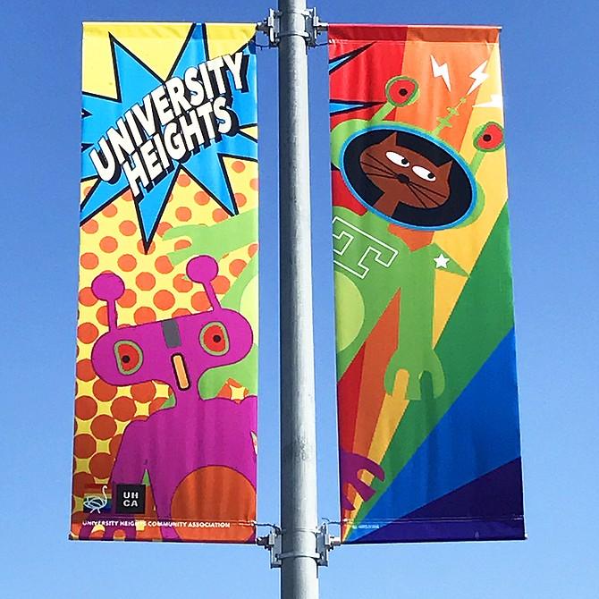Pride / Comic-Con Street Banners #3 University Heights, San Diego