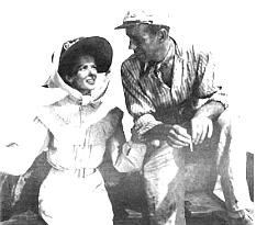 Hepburn and Bogart in African Queen