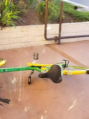 Broken lock on Lime bike