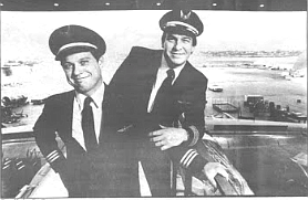 """Masley and Owens. Masley:  """"I once flew with this guy for a month straight, and he blocked out so much of the sun I lost my tan."""""""