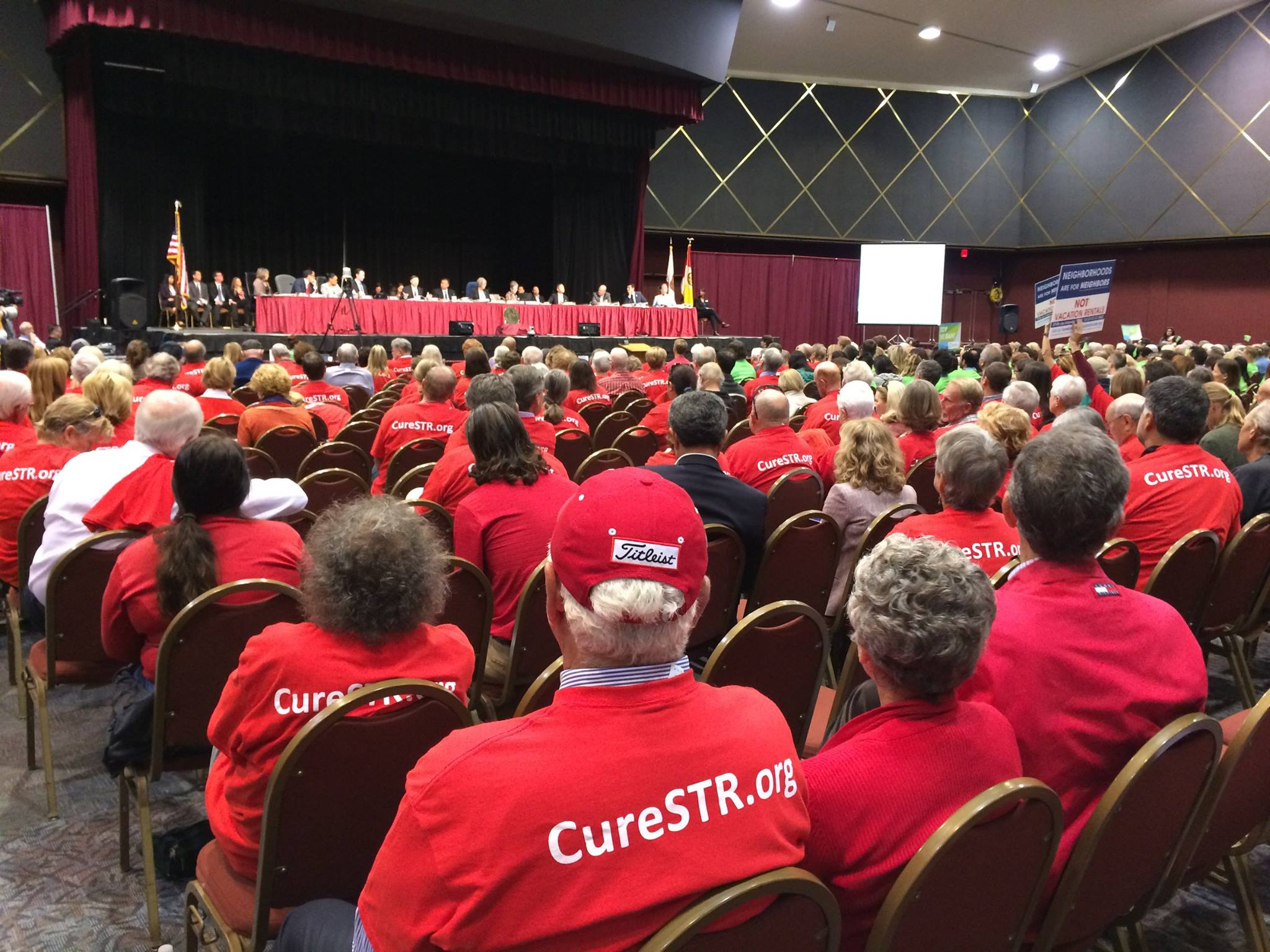 At the July 16 hearing, the usual sea of green (for) and red t-shirts (against) will be joined by blue (against) representing Ocean Beach. (Save San Diego Neighborhoods)