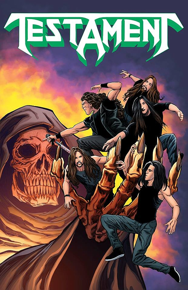 Cover of upcoming unauthorized Testament comic book bio - courtesy Acme Ink