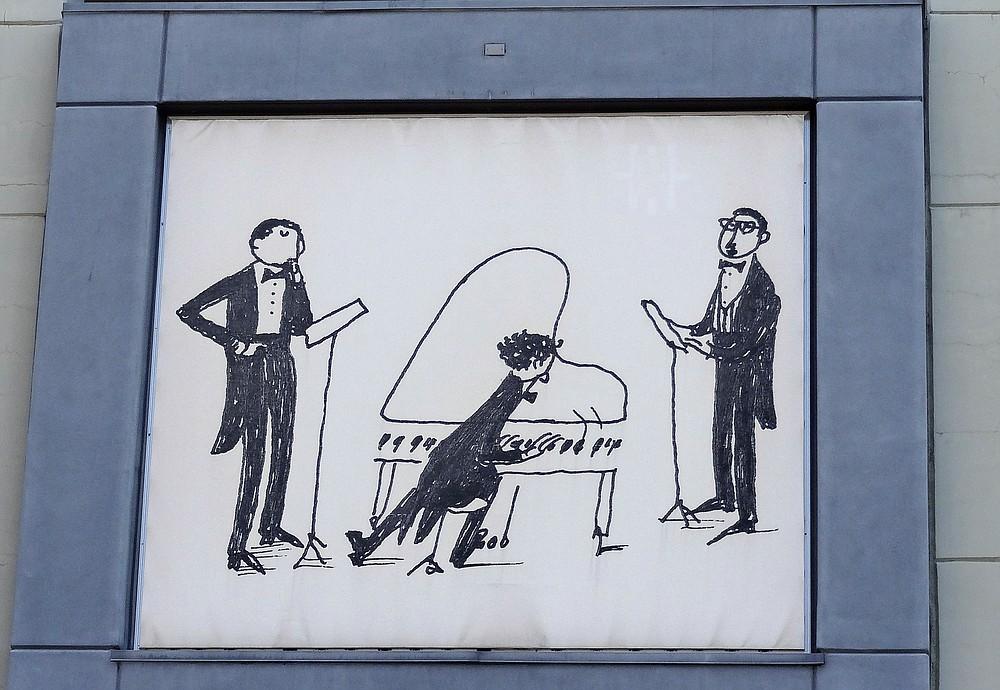 "Artist Blair Thornley wanted to add ""humor or lightness"""