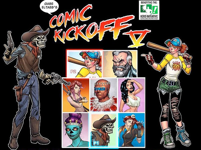 Hero Initiative Comic Kick-Off at Basic Bar & Kitchen on Wednesday, July 18