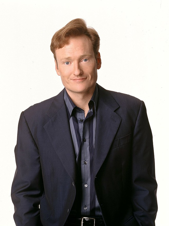 Conan O'Brien at Spreckels Theatre July 18 through July 21 – photo courtesy TBS publicity