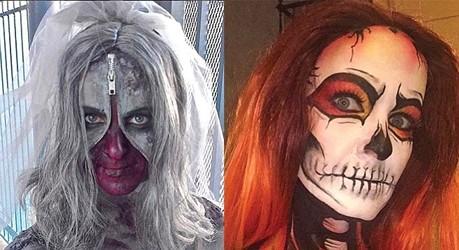 Zipperface zombie bride; Ghost Rider