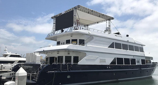 IMDb yacht. Last year, hundreds of fans hung out to watch the live interviews on the screen.