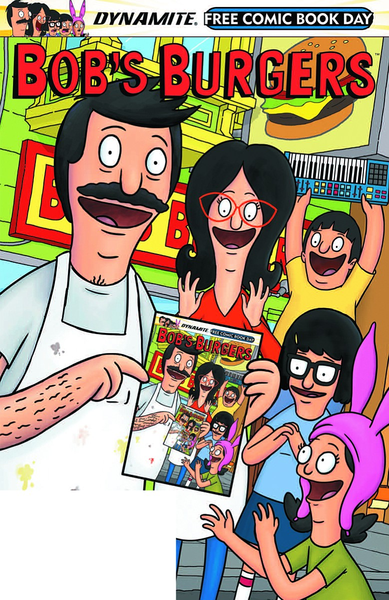 Bob's Burgers Meat-Up at Embarcadero Marina Park South on Friday, July 20 – Bob's Burgers comic infinity cover courtesy Dynamite