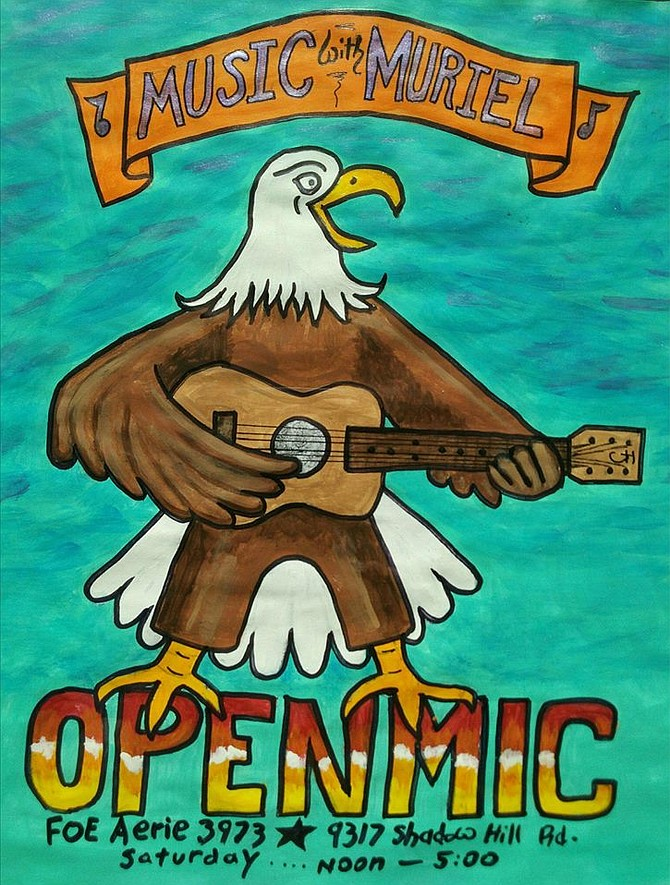 Eagles Lounge open mic nights happen on Saturdays, hosted by Muriel Durkin