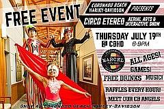 Superhero Aerial Arts Circus & Interactive Show at Harley-Davidson Coronado Beach on Thursday, July 19