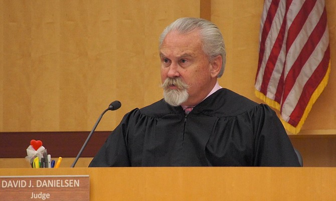 Judge Danielsen keeps order in his court. Photo by Eva.