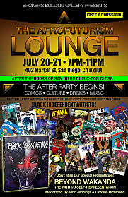 Afrofuturism Lounge at the Brokers Building Gallery on Friday and Saturday