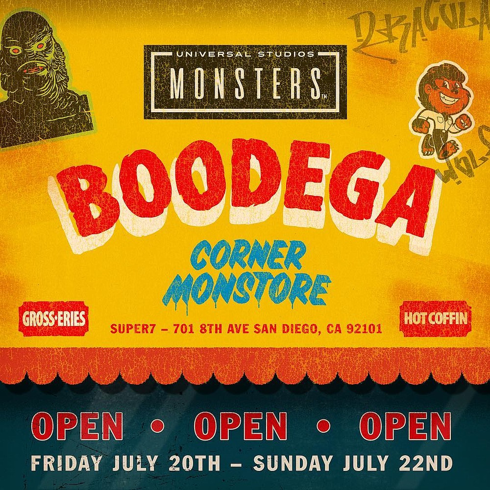 Universal Studios Monster Boodega, Thursday through Sunday evenings at the Super7