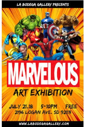 Marvelous Art Exhibit at La Bodega Gallery on Saturday, July 21
