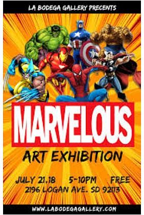 Marvelous Art Exhibit at La Bodega Gallery on Saturday, July 21