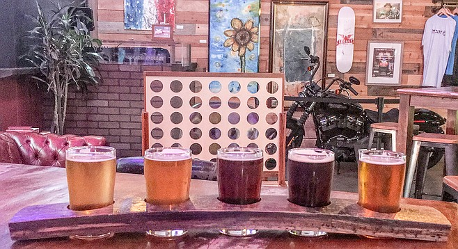 Games, motorcycles, artwork, music, and more for the Oceanside community at Legacy Brewing