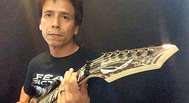 """Making videos in my home studio for social media is where I perform,"" says self professed ""guitar geek"" Mando Padilla."