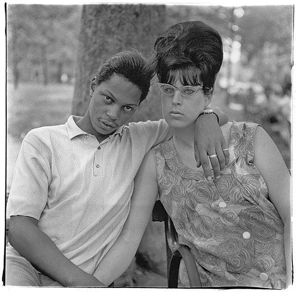 Diane Arbus, A young man and his pregnant wife in Washington Square Park, N.Y.C. 1965, 1965