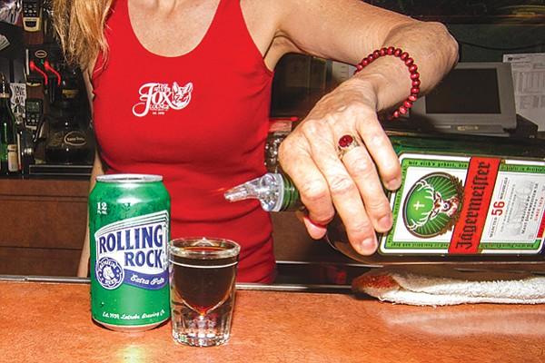 Silver Fox. Jaegermeister beer combo.