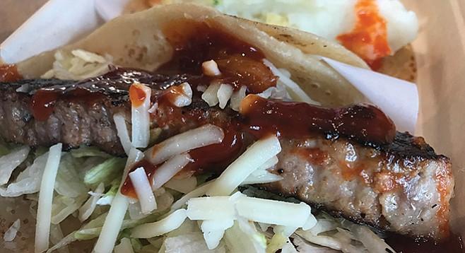 Sam's Meatloaf Taco.